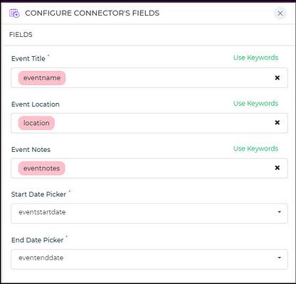 configure event