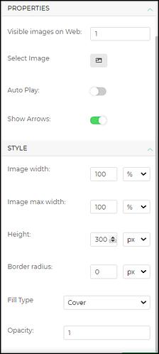 imageslider properties