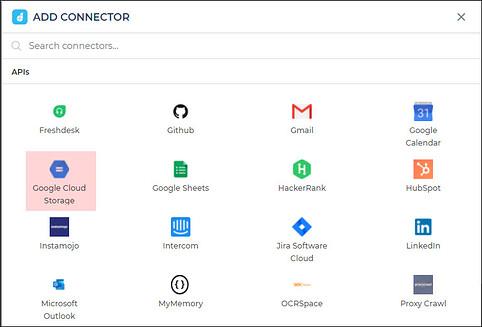 google cloud storage connector