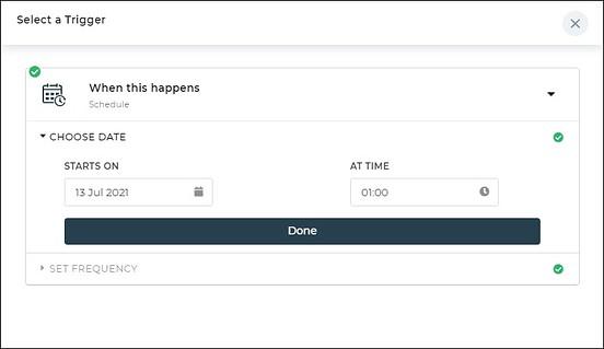 whenthis happen scheduler