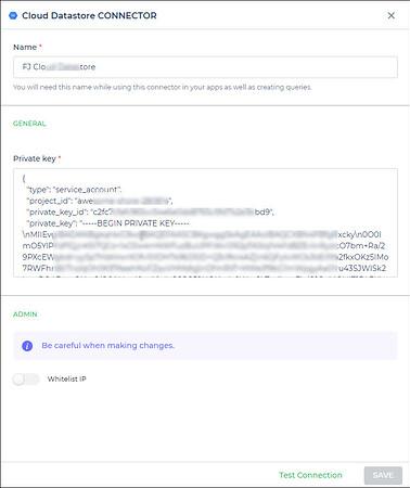 cloud datastore private key