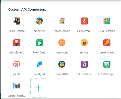 Custom API connectors