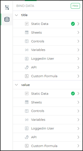 binddata quantity control
