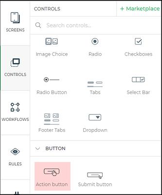 action button control