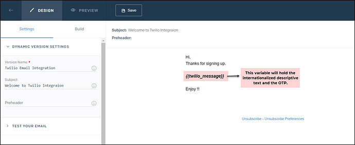 sendgrid template