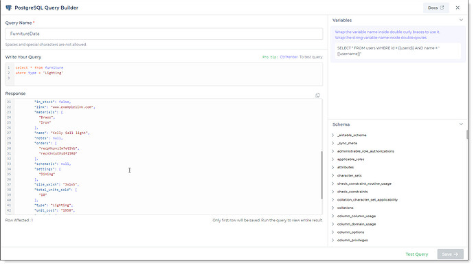 connector query example