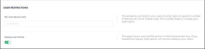user restriction
