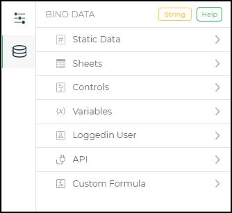 bind data