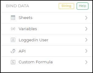 binddata data store