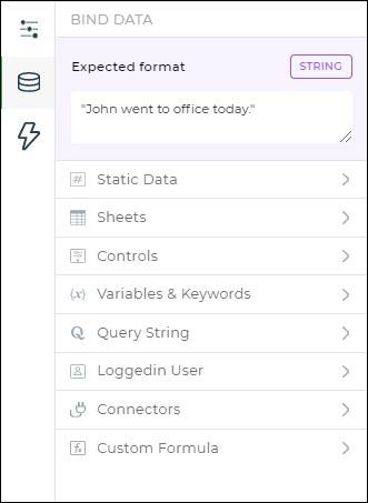 bind data options