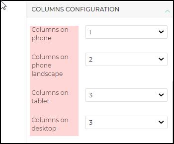panel columns configuraton1